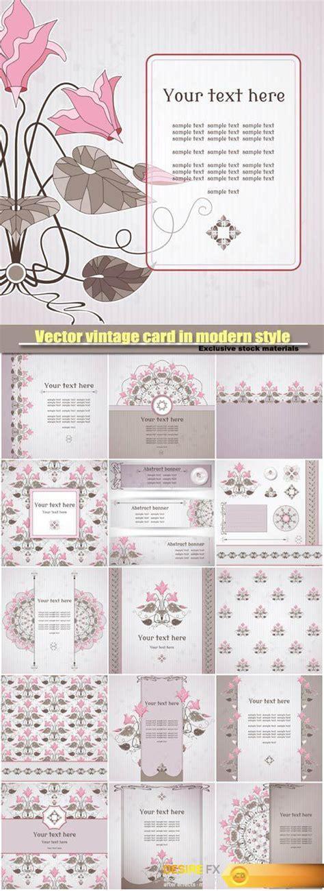desirefxcom  vector vintage card  modern