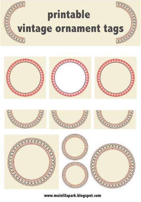 free printable vintage ornaments free printable vintage circle ornament tags and labels