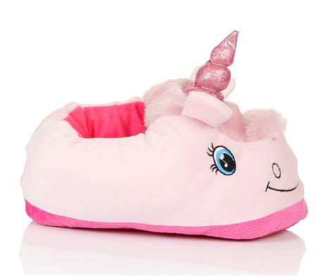 unicorn slippers uk womens novelty 3d character plush unicorn slippers