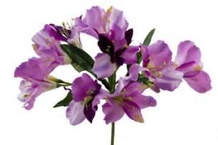 Artifical Flower Arrangements - purple alstroemeria spray silk wedding flowers