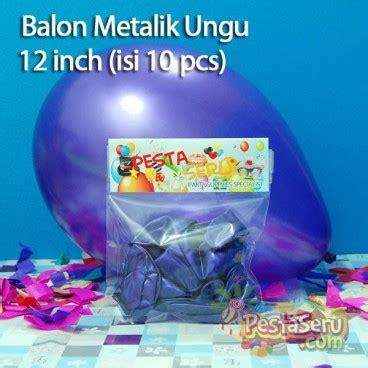 Balon Print Bunga Isi 10 balon metalik ungu 12 inch isi 10 pcs pestaseru