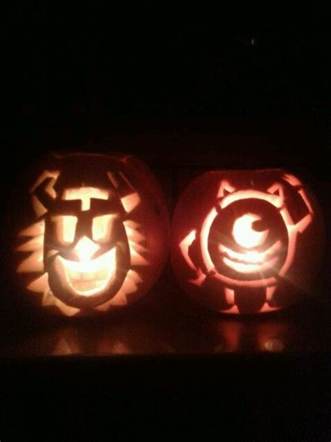 sully pumpkin template mike and sully pumpkins my pics