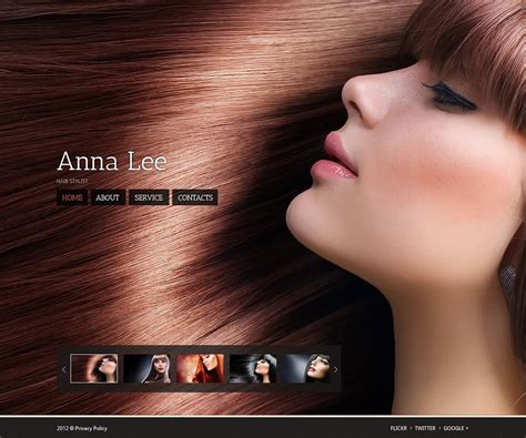 exles of hair websites 20 professional website themes templates for
