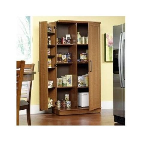 kitchen food cabinet tall kitchen cabinet storage food pantry wooden shelf