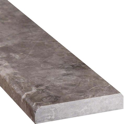 tundra gray 4 215 36 double beveled threshold polished colonial marble granite
