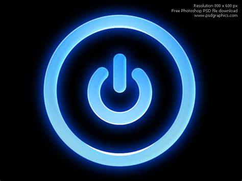 picture of a power button glossy photoshop icon psdgraphics
