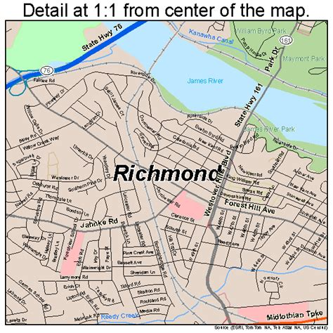 richmond va map richmond virginia map 5167000