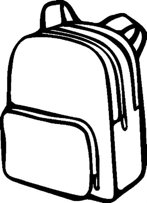 backpack template backpack coloring pages bestofcoloring
