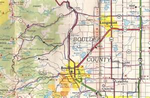 Boulder Colorado Map by An Old Map A D Bikes