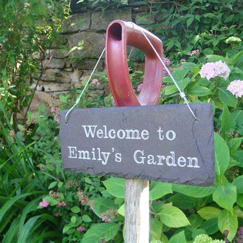Garden Signs by Personalised Engraved Slate Garden Sign By Winning Works