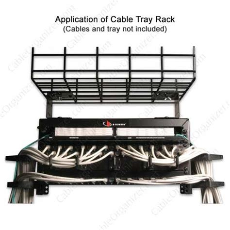 Siemon Rack by Siemon Cable Tray Mounted Network Rack