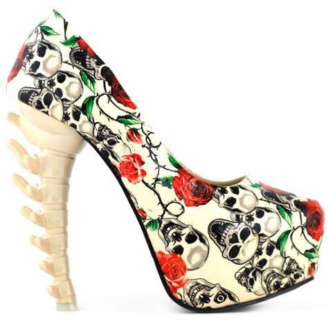 skull shoes for aliexpress buy lf80610 beige skull print