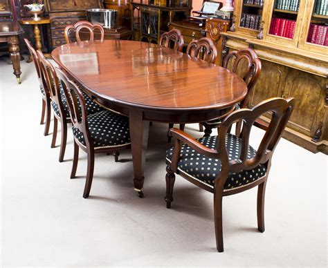 Edwardian Dining Table And Chairs Antique 8ft Edwardian Dining Table 8 Chairs C 1900 Ref No 07099b