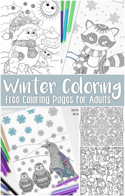 printable games for older adults free printable winter coloring pages for adults easy