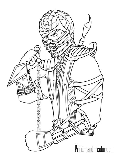 coloring book pages to print and color mortal kombat coloring pages mortal kombat coloring pages
