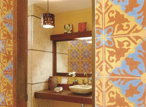 cuban home decor cuban tiles pair well with stone wood in this bath