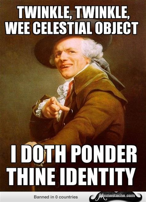 Old Language Meme - joseph ducreux twinkle twinkle little star funny