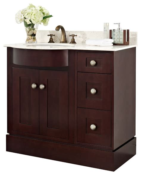 cherry wood veneer vanity set in coffee 36 quot x22