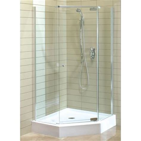 home depot shower keystone by maax magnolia angle acrylic shower kit home