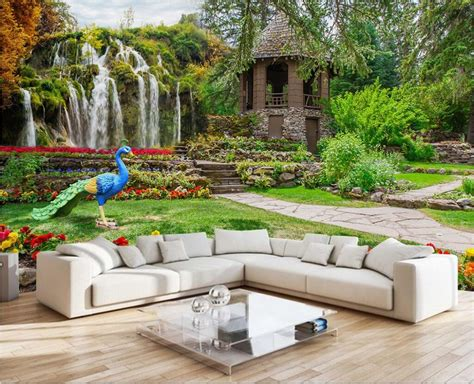 Popular Garden Wall Mural Buy Cheap Garden Wall Mural Lots Garden Wall Mural