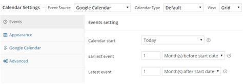Calendar Settings Creating A New Calendar Simple Calendar Documentation