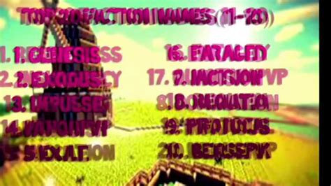 best faction top 30 faction names versi on the spot