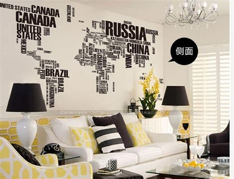world map home decor big size letter words world map for home decor wall