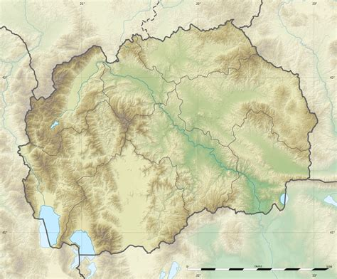 physical map of macedonia file macedonia relief location map jpg