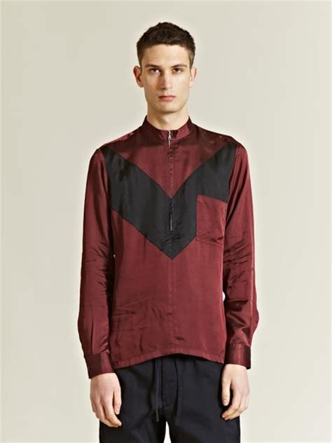 dries noten mens curtiss shirt in purple for burgundy lyst