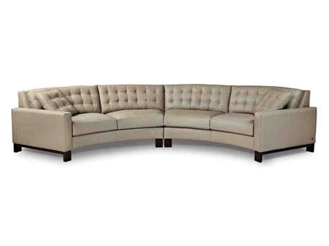 Curved Sectional Sofas Curved Leather Sofa Home Furniture Design