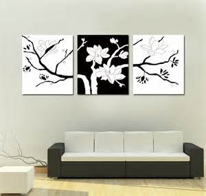 simple wall paintings for living room contemporary couch used two type color under triple canvas