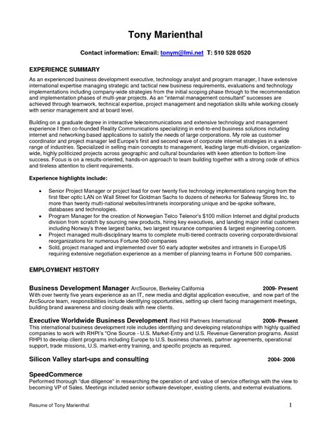 Director Of Sales Resume Sle by Board Of Directors Resume Sales Director Lewesmr