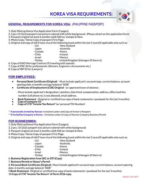 Guarantee Letter For Visa Korea korean visa pan pacific travel