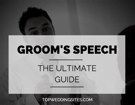 Writing Your Groom Speech: Tips, Examples, & Advice   Our