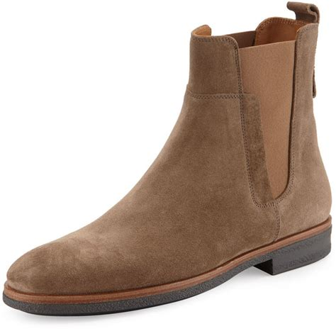 light brown chelsea boots vince men s suede chelsea boot light brown shopstyle