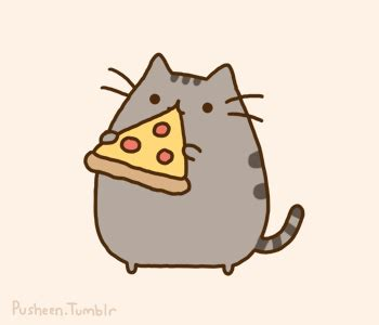 Sho Kucing Smile pizza cuteness pusheen serious eats