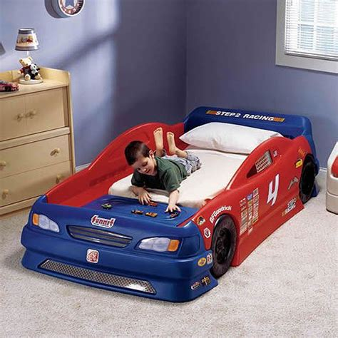 race car bed twin step2 stock car convertible toddler to twin bed cars
