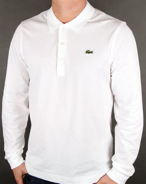 T Shirt Casual Lacoste 0 2 Hitam lacoste sleeve polo white mens top pique