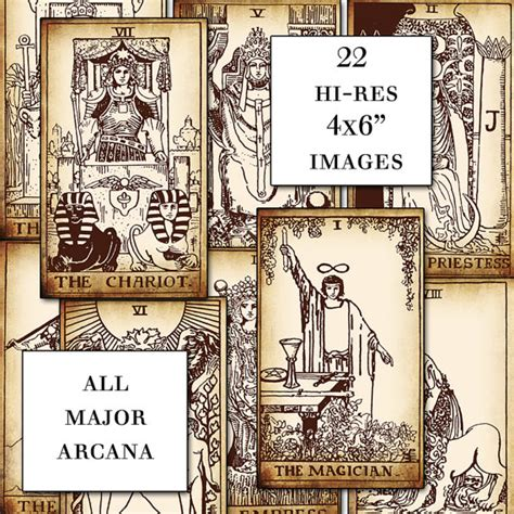 printable tarot cards pdf antique printable tarot pdf digital collage sheet altered art