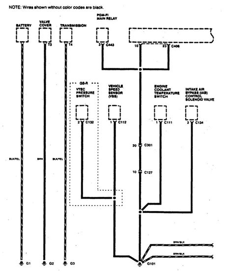 acura integra 1996 wiring diagrams ground
