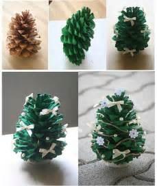 pine cone tree craft diy pine cone tree fabdiy