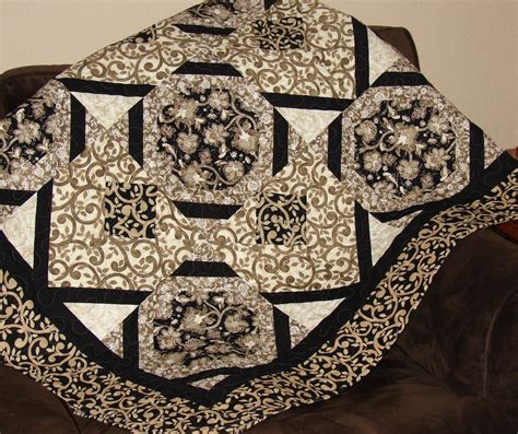 black quilted coverlet quilt in black taupe and cream throw blanket bed coverlet