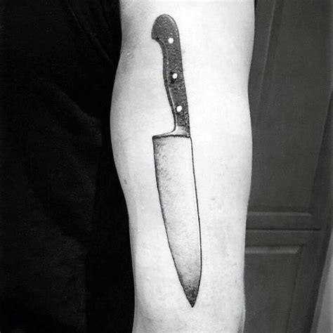 chef knife tattoo 60 chef knife designs for cook ink ideas