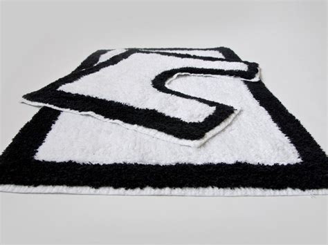 black white bath rug black and white bath rug home design ideas