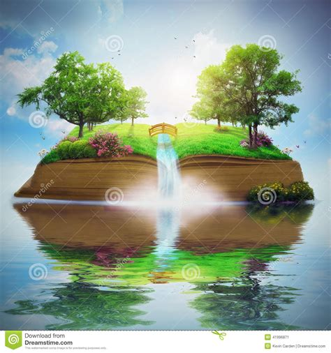 beautiful book pictures beautiful garden on book stock illustration image of
