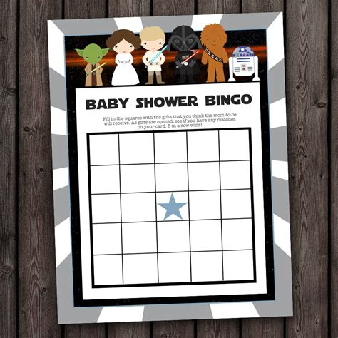 Wars Baby Shower wars baby shower bingo wars bingo shower