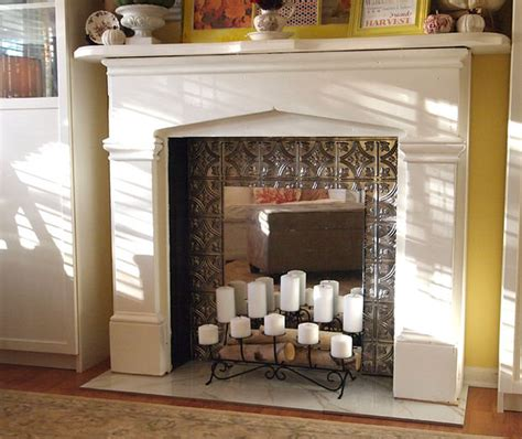 faux fireplace diy faux fireplace the budget decorator