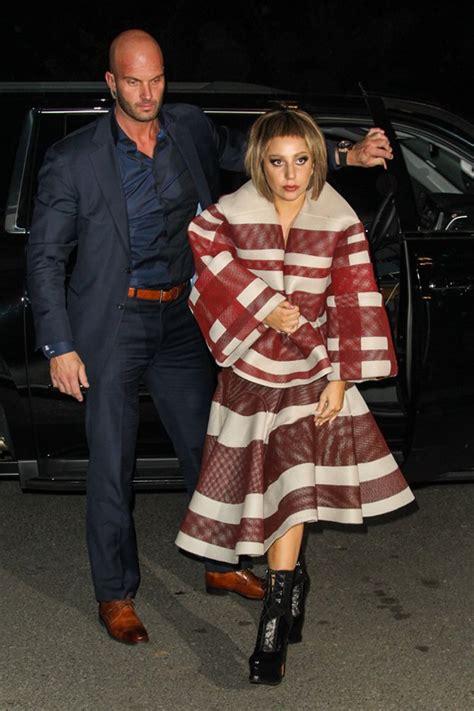 gaga looks like herself as she comes home to new york