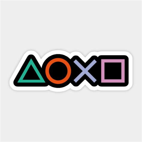 Ps4 Controller Button Stickers by Ps4 Controller Buttons Ps4 Sticker Teepublic