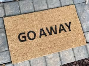 Welcome Go Away Doormat Go Away Doormat Custom Door Mat Funny Doormats Doormats